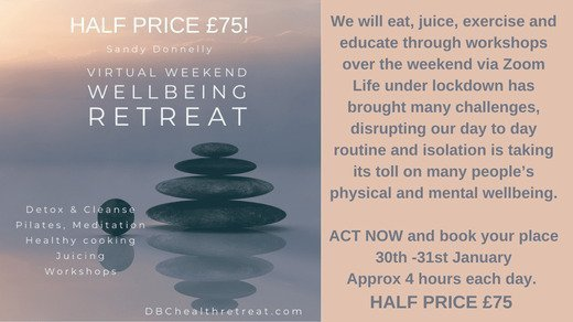 Virtual Retreat with Sandy Donnelly Saturday 30th & Sunday 31st January HALF PRICE FOR BITA MEMBERS!