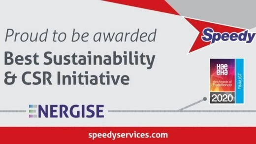 Best Sustainability & CSR Initiative' award, at the Hire Awards of Excellence 2020.