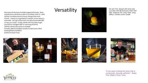 Daring to be different...especially in the drinks industry!