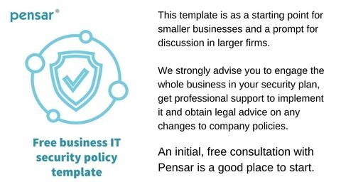 Business IT Security Policy Template